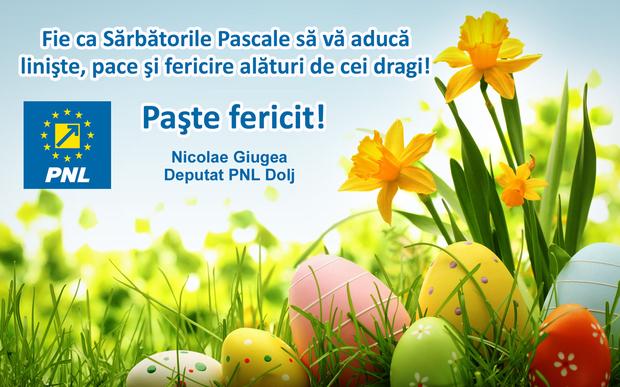 NGiugeaBUN phixr Nicolae Giugea deputat PNL Dolj: Fie ca Sărbătorile Pascale să vă aducă liniște, pace și fericire alături de cei dragi! poze